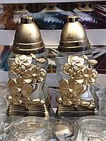 Лампадки Пасхальные с декором, стеклянный корпус, фото 1