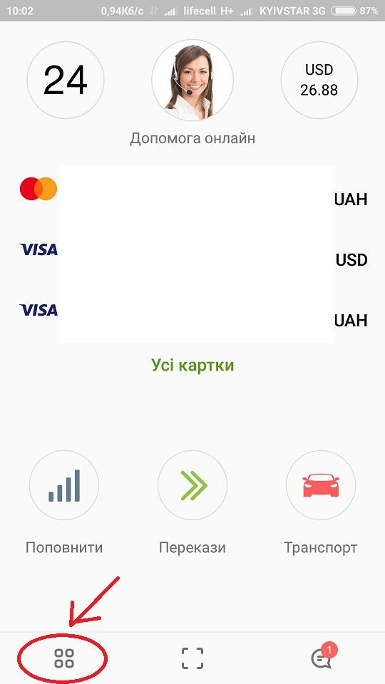 Как оплатить заказ в магазине Smatricase с мобильного приложения Приват 24