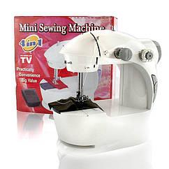 Швейная мини-машинка 4 в 1 mini sewing machine 201 c педалью