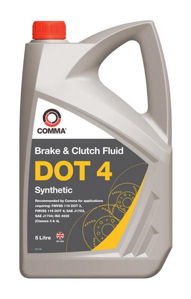 Жидкость тормозная DOT 4 SYNT. 5 л. COMMA