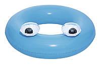 """Круг для плавания 91 см, от 10 лет, """"Глазастики"""",голубой"""