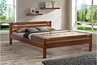 Кровать Ольга (буковый щит) 120-200 см (орех)