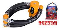 Вело / мото замок противоугонный секционный ленточный TONYON TY3869-300: ключ, вес = 1750 г, давление < 16 т