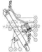 Левый цилиндр стрелы F2101 0100 00 00 на Jonyang 230E
