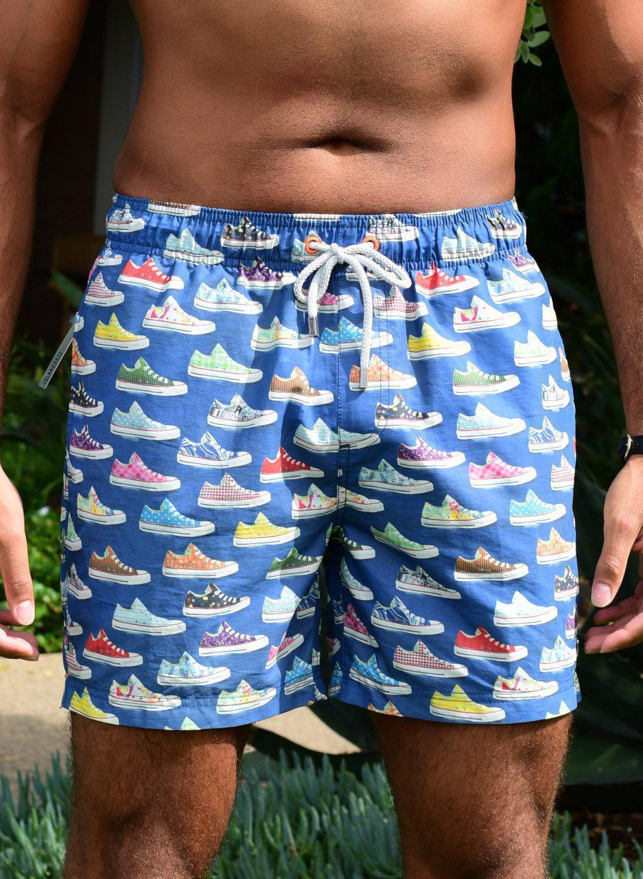 Размер S Пляжные мужские шорты IslandHaze Retro Sneaker (Австралия), плавки, купальные шорты