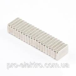 Неодимовий магніт прямокутник 10х6х2 мм