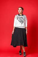 """Женское платье-сарафан с кофтой """"Инь-Янь"""", код К-006, черно-белое"""