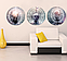 Картина из нескольких частей Круглая 3 модуля 40 смØ Абстракция, фото 2
