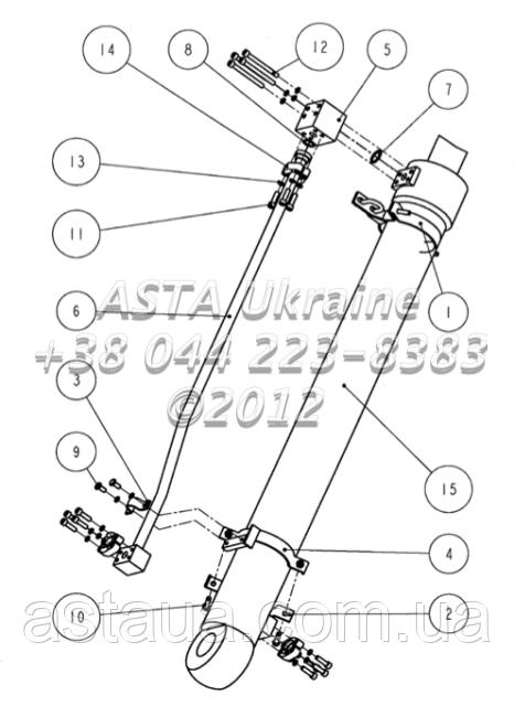 Цилиндр ковша F2101 2200 00 00 на Jonyang 230E