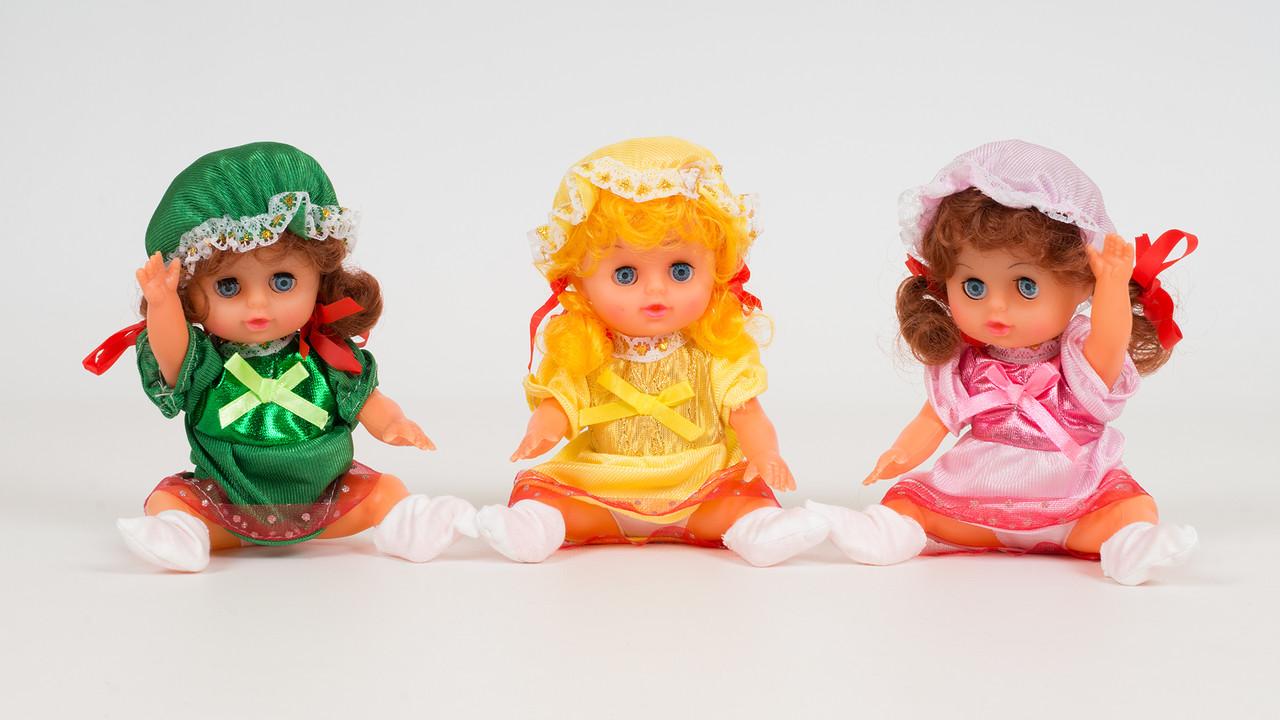 Кукла HOKU с бутылочкой. Издает звуки. 3 цвета