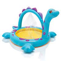 """Детский надувной бассейн с душем """"Динозаврик"""" 57437 Intex"""