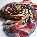 Палантин шерстяной 10263-1, павлопосадский шарф-палантин шерстяной (разреженная шерсть) с осыпкой, фото 7