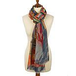 Палантин шерстяной 10263-1, павлопосадский шарф-палантин шерстяной (разреженная шерсть) с осыпкой, фото 3