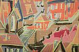 Палантин шерстяной 10263-1, павлопосадский шарф-палантин шерстяной (разреженная шерсть) с осыпкой, фото 4