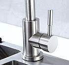 Однорычажный смеситель для кухнонной мойки из нержавеющей стали SUS304 цвет матовый Imperial 31-107-01, фото 4