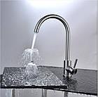 Однорычажный смеситель для кухнонной мойки из нержавеющей стали SUS304 цвет матовый Imperial 31-107-01, фото 6