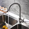 Однорычажный смеситель для кухнонной мойки из нержавеющей стали SUS304 цвет матовый Imperial 31-107-01 - Фото