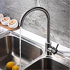 Однорычажный смеситель для кухнонной мойки из нержавеющей стали SUS304 цвет матовый Imperial 31-107-01, фото 9