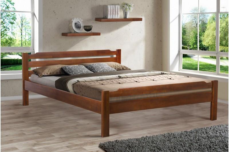 Кровать Ольга (буковый щит) 160-200 см (орех)