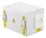Понижающий трансформатор в корпусе 220/12 вольт IP30 IEK, фото 1