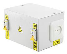 Понижающий трансформатор в корпусе 220/12 вольт IP30 IEK