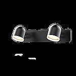Спотовый светодиодный светильник (бра) MAXUS MSL-01W 2x4W 4100K Черный, фото 2