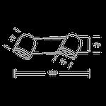 Спотовый светодиодный светильник (бра) MAXUS MSL-01W 2x4W 4100K Черный, фото 3