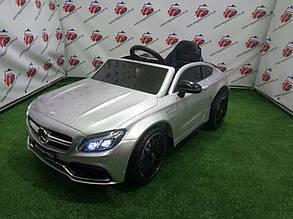 Дитячий електромобіль Mercedes C63 AMG, M 4010EBLRS-11, срібло лак
