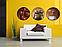 Картина модульная для кухни Круглая 3 модуля 50 смØ Кофе, фото 2