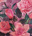 Палантин шерстяной 10747-6, павлопосадский шарф-палантин шерстяной (разреженная шерсть) с осыпкой, фото 3