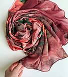 Палантин шерстяной 10747-6, павлопосадский шарф-палантин шерстяной (разреженная шерсть) с осыпкой, фото 7