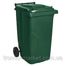 Контейнер для мусора на колесах 120л, пластик,Украина. Бесплатная доставка