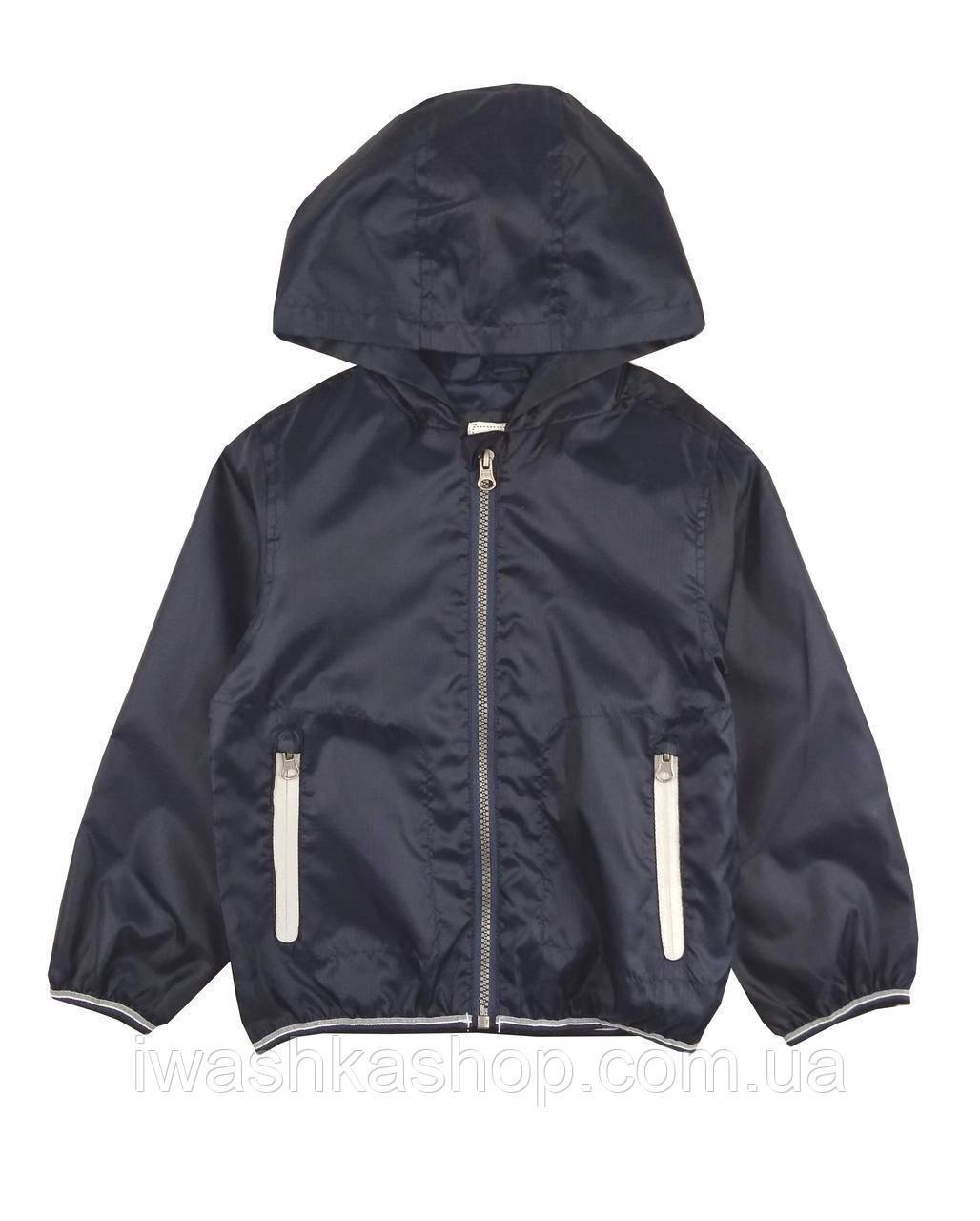 Темно-синяя куртка, ветровка на мальчика 3 - 4 лет, р. 104, Rebel by Primark
