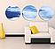 Картина Круглая 3 модуля 40 смØ Морской Горный пейзаж, фото 2