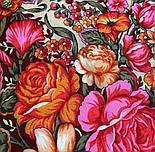 Заветная мечта 1821-4, павлопосадский платок шерстяной  с оверлоком, фото 3