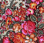 Заветная мечта 1821-4, павлопосадский платок шерстяной  с оверлоком, фото 4