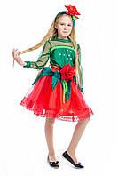 """""""Розочка красная"""" детский карнавальный костюм для девочки, фото 1"""