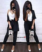 Брючный женский костюм с кардиганом на запах 9KO1076, фото 1