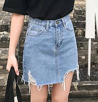 Джинсовая женская юбка на лето с карманами 68JU205, фото 1