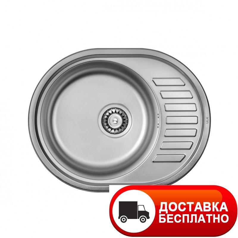 Кухонная мойка ULA 7112 ZS Polish 08 (мойка 5745 нерж.)