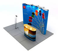 Мобильный выставочный стенд POP-UP (дисплей система)