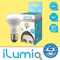 Светодиодная лампа iLumia рефлекторная R63 8Вт, 800Лм, цоколь Е27, 3000К (тёплый белый)
