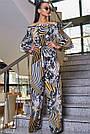 Женский молодёжный брючный комбинезон с открытыми плечами, жёлтый, повседневный, пляжный, с воланами, фото 3