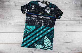 Футболка мужская Adidas - черная, брендовая, с принтом символика, супрем