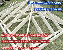 Импрегнация стропильных систем, балок, лаги