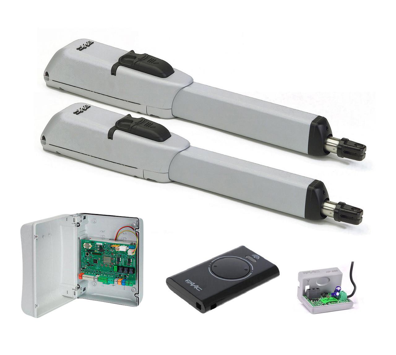 FAAC 415 LS 24В — автоматика для распашных ворот (створка 2,5 до 3 м с электромех. конц.)