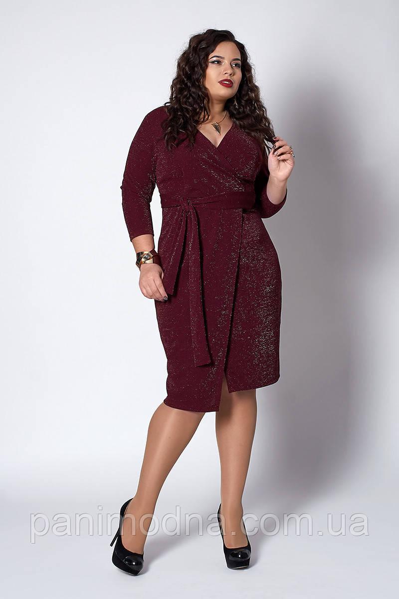 Платье женское из креп-люрекса, размеры 50,52