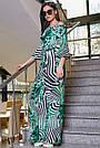 Женский молодёжный брючный комбинезон с открытыми плечами, зелёный, повседневный, пляжный, с воланами, фото 3