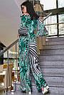 Женский молодёжный брючный комбинезон с открытыми плечами, зелёный, повседневный, пляжный, с воланами, фото 4