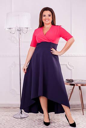 Платье с коротким рукавом большого размера, фото 2